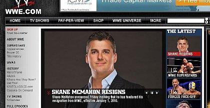 WWE: Homepage